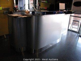 11' Wide Wood and Glass Sales Counter