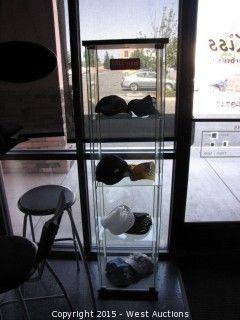 5' Tall Glass Display Case